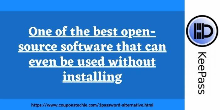 1Password Alternative Open Source KeePass