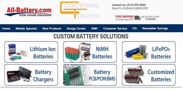 All Battery Coupons