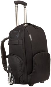 Amazon Basics Convertible Rolling Camera Backpack