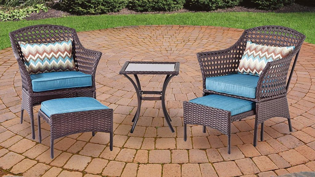 Backyard Classics Bainbridge 3-Piece Wicker Chair Set with Ottoman