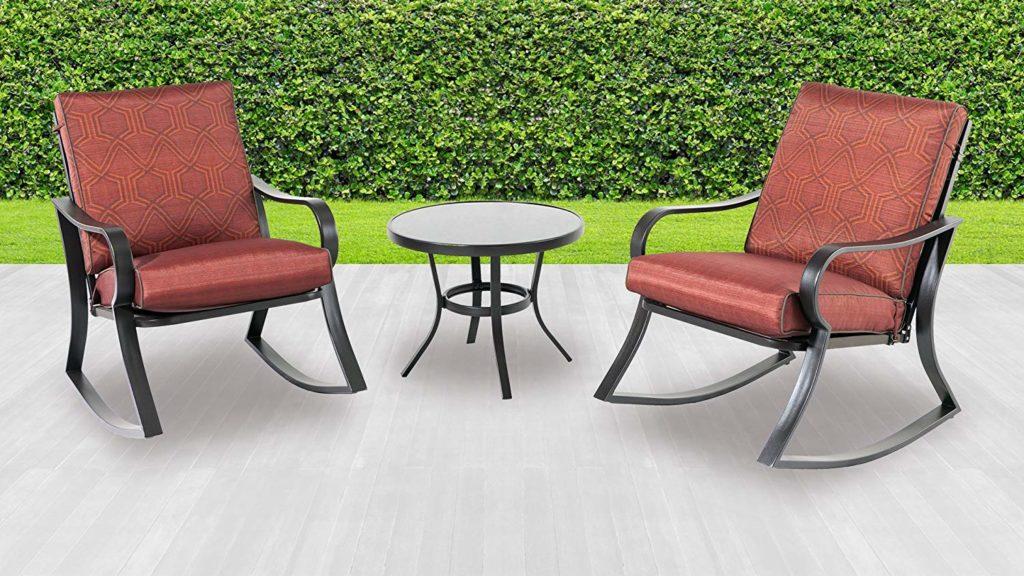 Backyard Classics Cushion Rocker Chair Set Cushion Rocker Chair Set