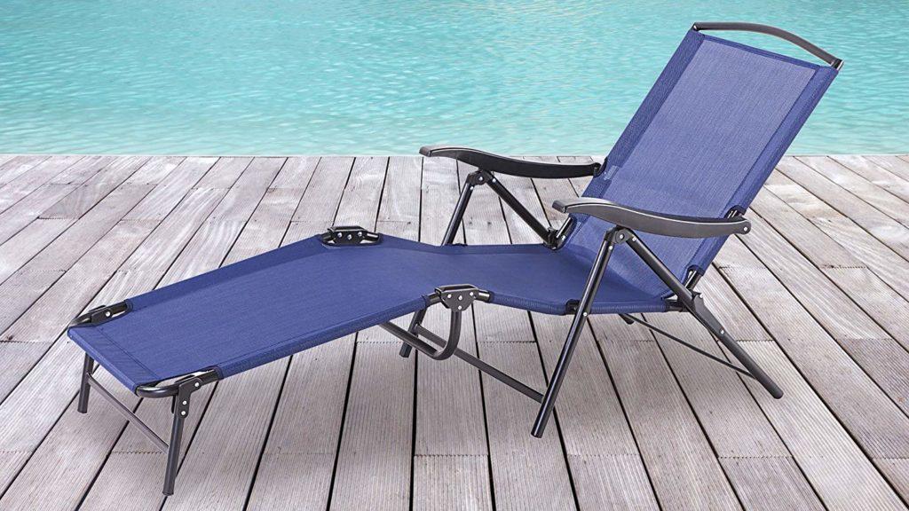 Backyard Classics Naples Multi-Position Folding Chaise Lounge