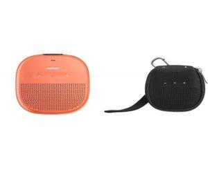 Bose SoundLink Micro Waterproof Bluetooth Speaker with AmazonBasics Case