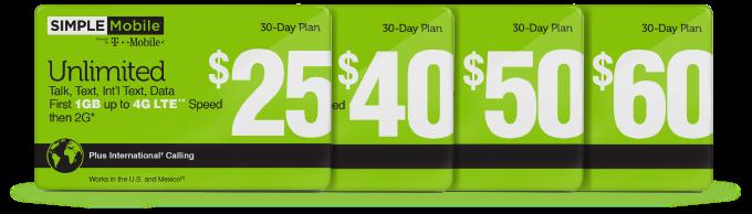 SimpleMobile plans