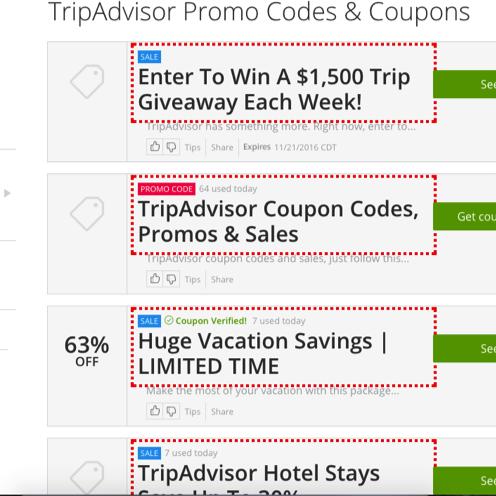 Tripadvisor Coupons and Promo codes