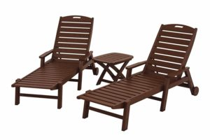 3-Piece Chaise Set, Mahogany