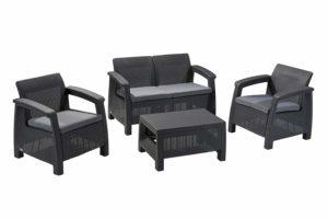 Keter Corfu 4 Piece Set All Weather Outdoor Patio Garden Furniture discount code