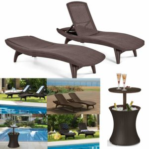 Outdoor Patio Pool Chaise Lounge Furniture Set promo code