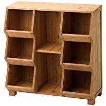 Stackable Wooden Cubby Storage Unit