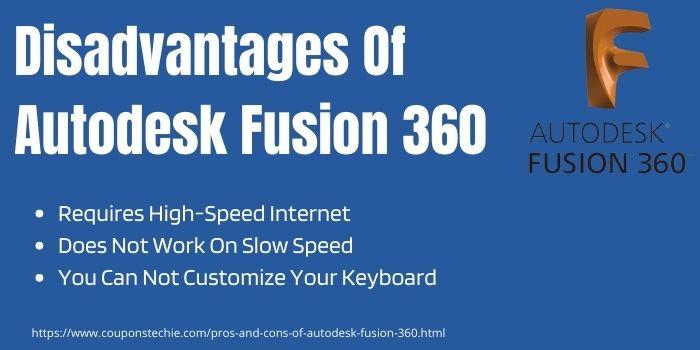 Disadvantages Of Autodesk Fusion 360