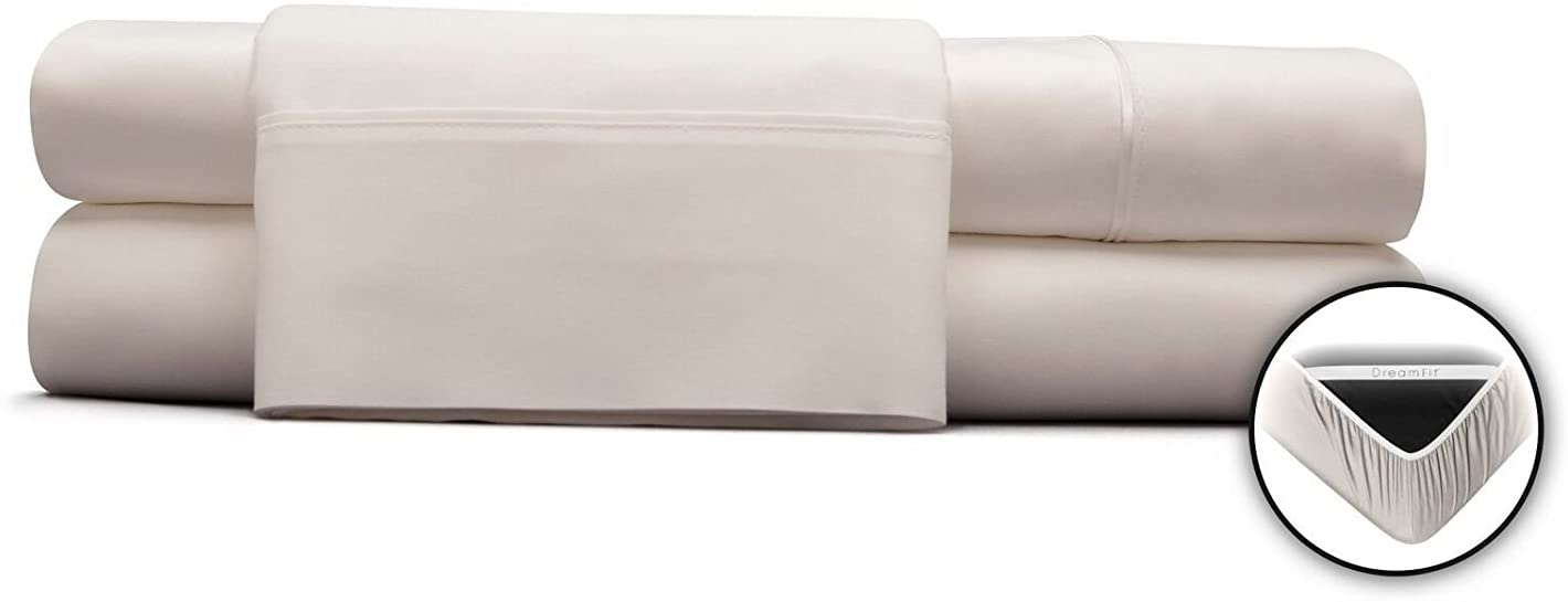 DreamFit White Cal King Sheet Set