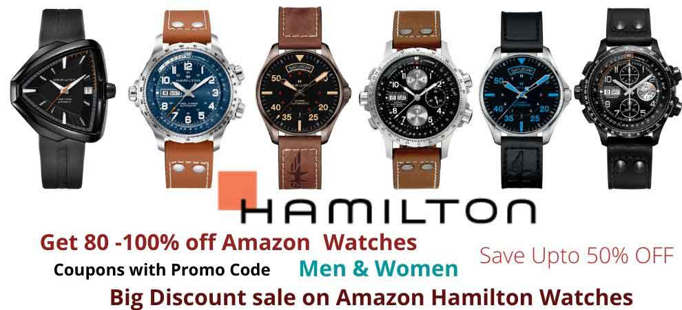 Hamilton Watches Discount Sale Banner