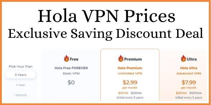 Hola VPN Prices