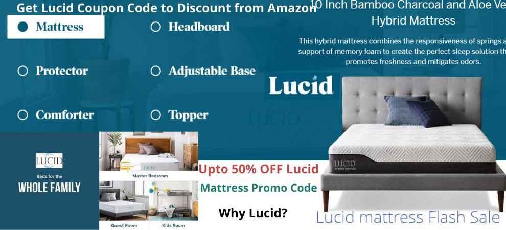 Lucid mattress Flash Sale Banner