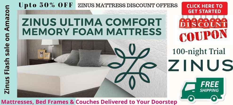 Zinus Mattress Discount Sale Banner
