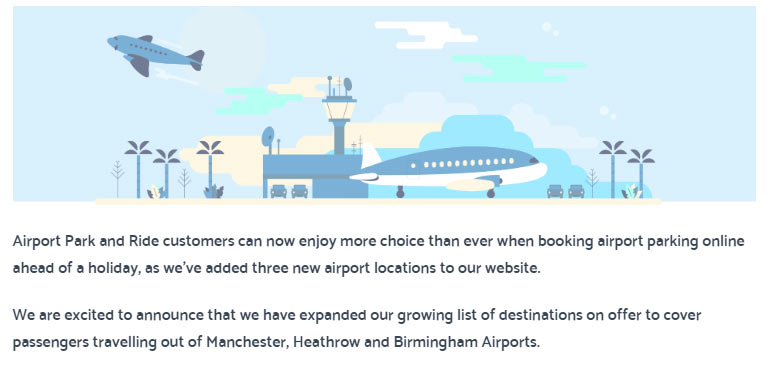 airport park and ride offers and deals