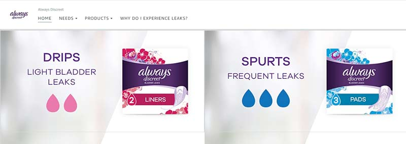 always discreet store products