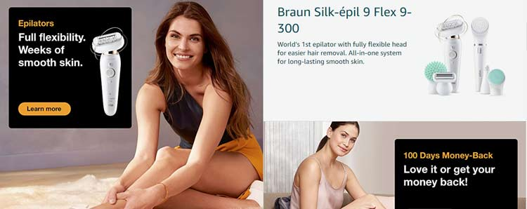 women braun epilators