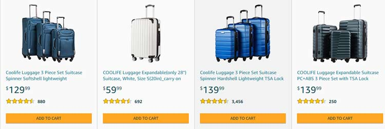 coolife luggage products