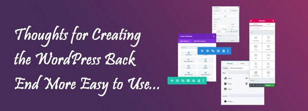 2. Make WordPress Back End Easy to Use