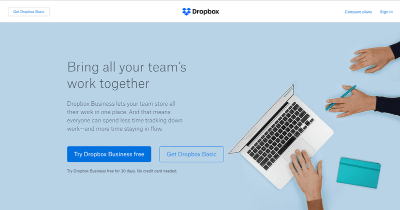 Dropbox Get your Space