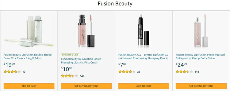 fusion beauty products