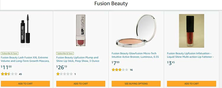 fusion beauty store