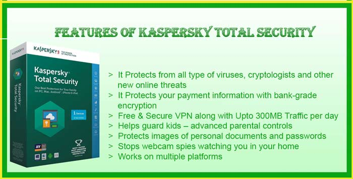 kaspersky total security features