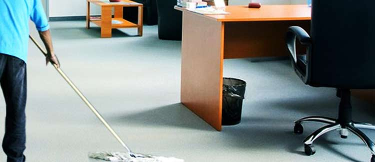 set up office cleanness