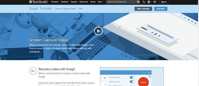 snagit video tutorials